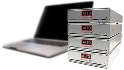 ATTO ThunderLink Fibre Channel adapters